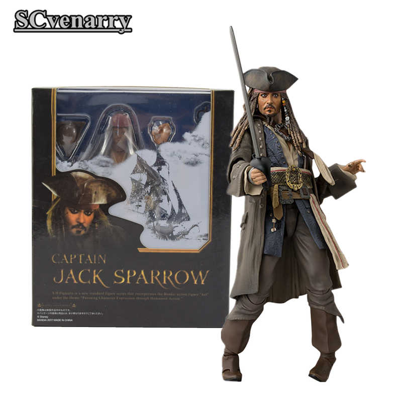 Piratas do Caribe Dead Men Tell No Tales SHF 5 Jack Sparrow do Salazar Vingança PVC Collectible Modelo Boneca brinquedos