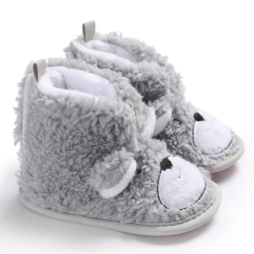 2019 Winter Warm Baby Boots Shoes Knitted Sweaters Boots Booty Crib Babe Girls Toddler Boy Shoe For 0-1 Year high quality