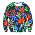 2017 Fashion Men/women Funny Green weeds Printed Hoodies 3D Men Sweatshirt Pullover Streetwear Harajuku Hip Hop Hoody