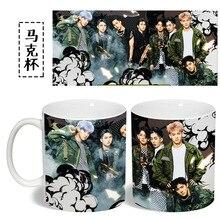 exo love me right color changing mug Color Changeing Mug Print Anime Coffee Cup Man Morning Tea Cups With Gift Box