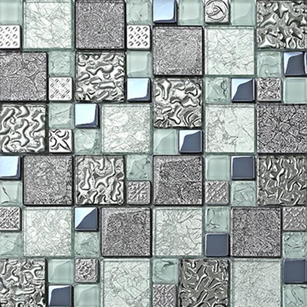 Green Lighting Glass Blocks Gray Kitchen Bathroom Tiles Decorative