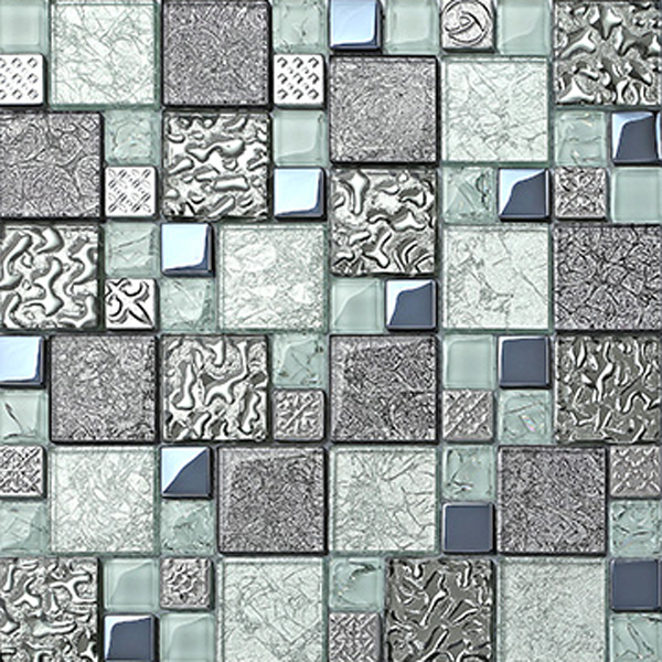Green Lighting Glass Blocks Gray Kitchen Bathroom Tiles Decorative Mosaic Tile