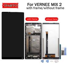 فيرني ميكس 2 شاشة الكريستال السائل محول الأرقام بشاشة تعمل بلمس الإطار الجمعية 100% الأصلي جديد LCD تعمل باللمس محول الأرقام ل MIX 2