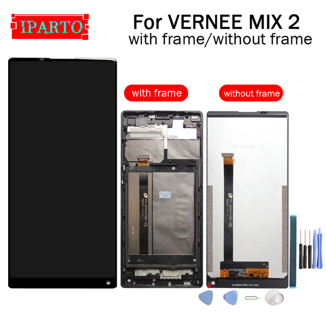 VERNEE MIX 2 LCD Display+Touch Screen Digitizer +Frame Assembly 100% Original New LCD+Touch Digitizer for MIX 2