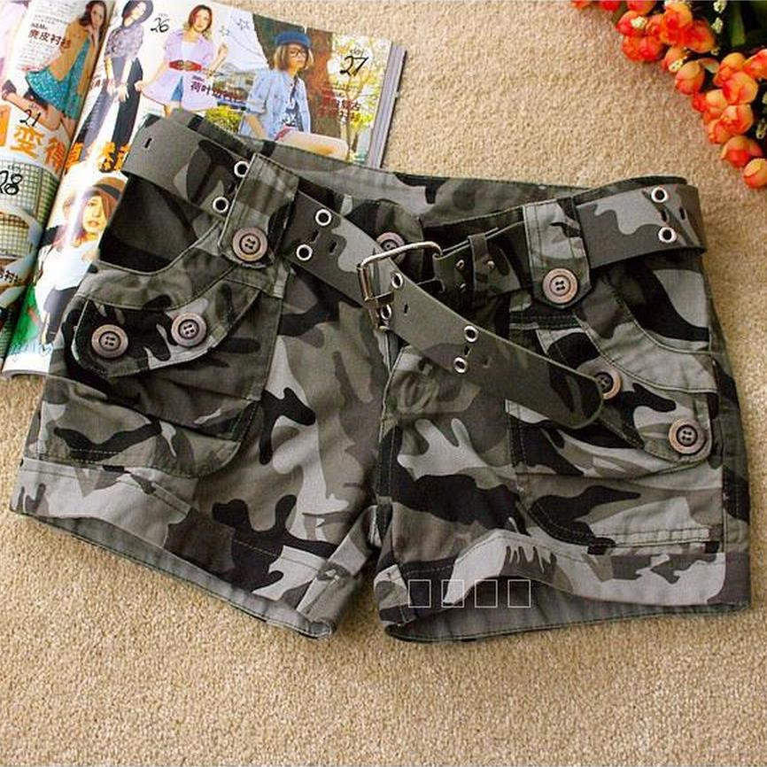 Wholesale High quality 2017 summer fashion camouflage shorts,women casual camo cargo shorts army military hot shorts W484