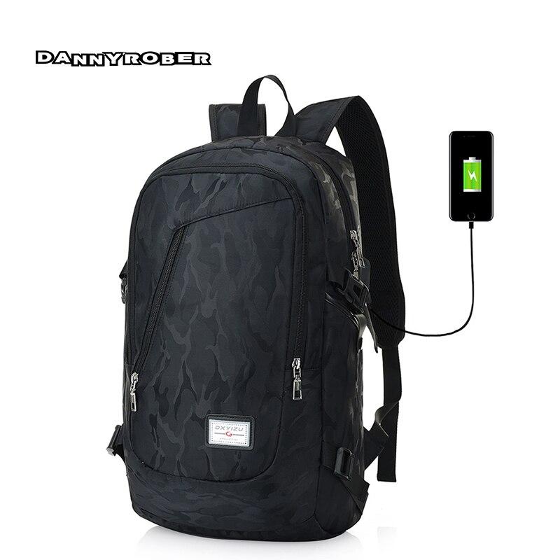Laptop Backpack Men Travel Bags Multifunction font b External b font font b USB b font