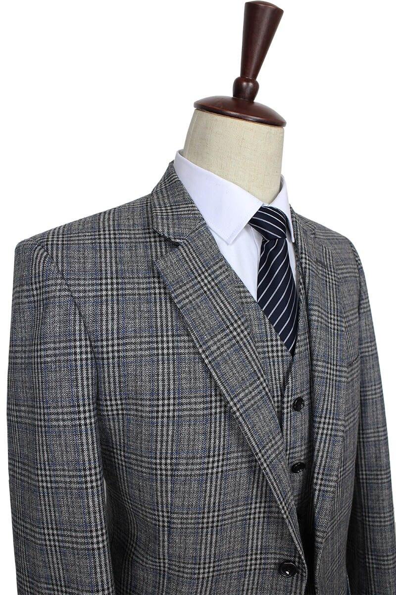brand new 7da64 a220c US $199.0 |2016 maßgeschneiderte Herren anzug wolle Grau Traditionellen  Tweed Retro Britischen stil tailor hochzeit slim fit Blazer anzüge für  männer ...