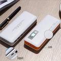 18650 banco de la energía 15000 mah móvil cargador rápido lcd batería externa portátil 3 usb powerbank para iphone 6 tablet negro