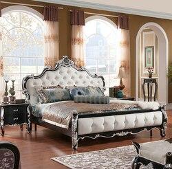 Wysokiej jakości europejski nowoczesne łóżko łóżko francuskie meble do sypialni 1.8 m 7074