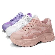 Fashion Chunky Sneakers Women Summer Vulcanize Shoes Breathable Platform Sneakers Air Mesh Trainers Shoes Chaussures Femme