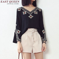 Woman's tops 2018 tunics female embroidered blouse 2018 mexican hippie boho blouse chic shirt ladies tops kimono femme NN0637