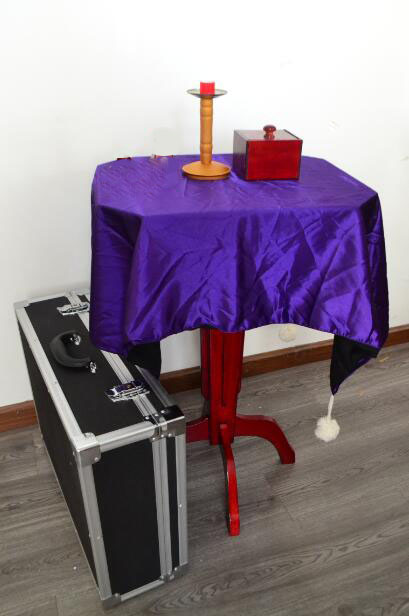 Super Deluxe Floating Table (Anti Gravity Box + Candlestick)Magic Tricks Magicians Stage Accessories Gimmick Levitation Magie demigods and magicians