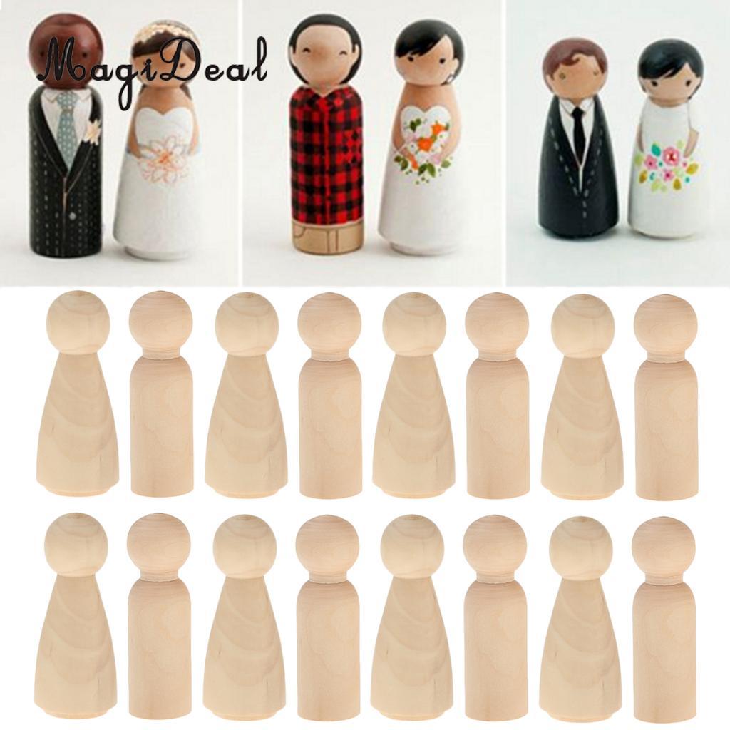 120/ชุดชายหญิงไม้ Peg ตุ๊กตาตัวเลขงานแต่งงานเจ้าสาวเจ้าบ่าวเค้ก Toppers-ใน อุปกรณ์ตกแต่งเค้ก จาก บ้านและสวน บน AliExpress - 11.11_สิบเอ็ด สิบเอ็ดวันคนโสด 1