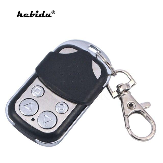 Kebidu 433MHZ אלחוטי מוסך שלט רחוק למידה קוד לשכפל מפתח Fob שיבוט שער מוסך דלת רכב שער מפתח