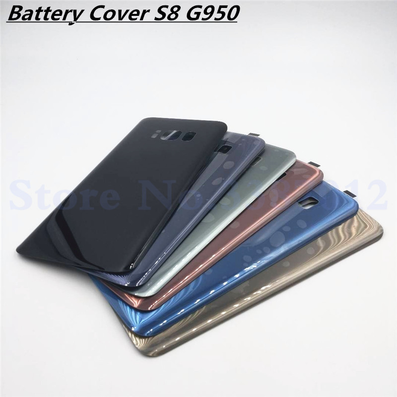 Vecmnoday Replacement For Samsung Galaxy S8 G950 G950F Back Battery Cover Door Rear Glass Housing Case Battery Cover