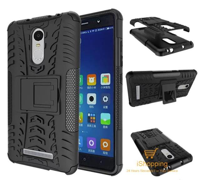 Tough Rugged Dual Layer Tire Style Hybrid Hard Back KickStand Duty Armor Case for Xiaomi Redmi Note 3 Hongmi Note 3 Phone Bags
