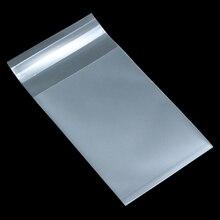 מט ברור שקוף פלסטיק קוקי עצמי דבק חותם שקית מתנה עבור מזון ממתקי ביסקוויטים עוגת חבילה חלבית פולי שקיות 8 גודל