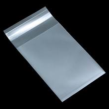 Saco de presente transparente claro fosco do selo do biscoito plástico auto adesivo para o pacote do bolo dos biscoitos dos doces do alimento sacos polis geados 8 tamanho