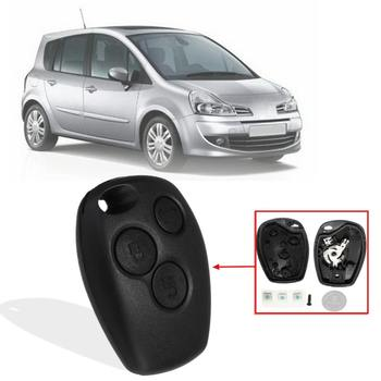 1Pcs 3 Buttons Smart Remote Car Key Shell Case With 1 Battery 3 Switches For Renault Trafic Master Clio Modus Replacement image