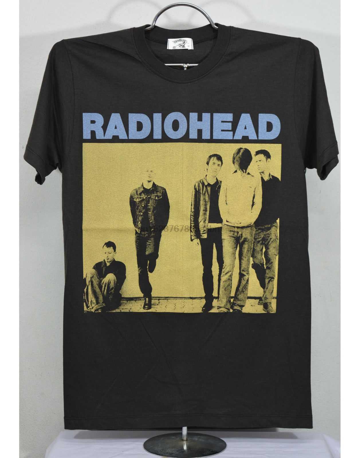 RADIOHEAD T-Shirt Black Rock Band Concert Vtg New Summer Short Sleeves Fashion