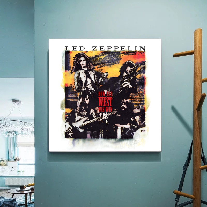 Led Zeppelin album How the West Was Won Music Cover Art Canvas Wall Pictures for Living Room No Frame image