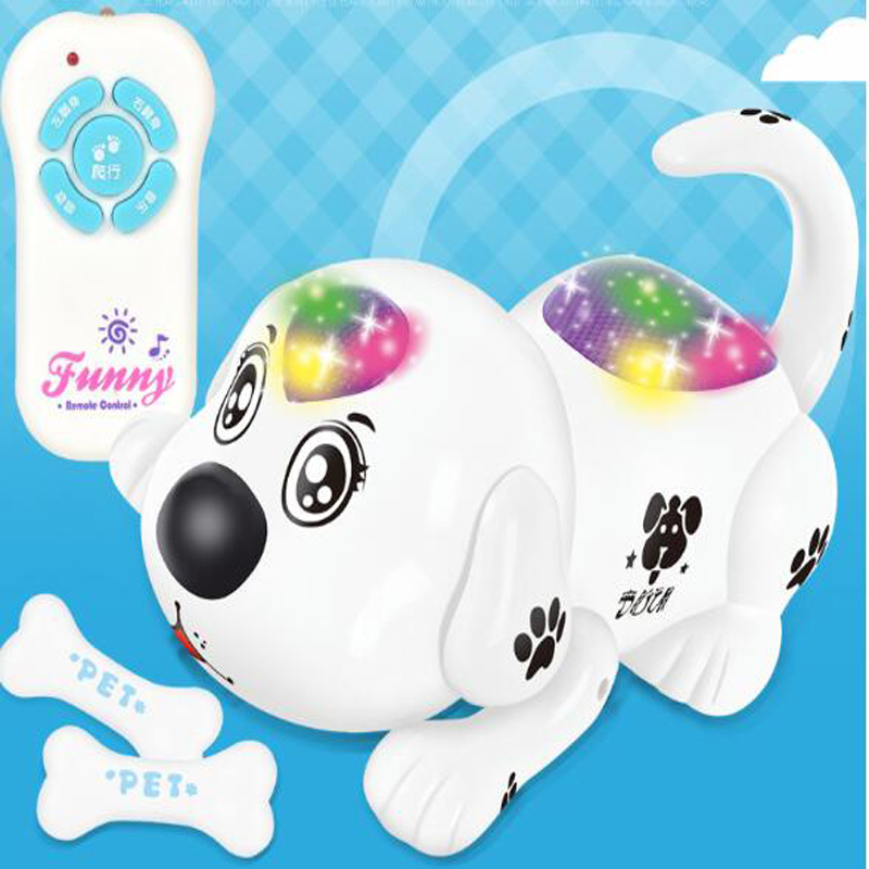 Wireless Remote Control Electric Toy Dog Crawling Electronic Pet RC Puppy Cute Animal RC Dog Remote Control Smart Dog Toy RC Robots & Animals     - title=