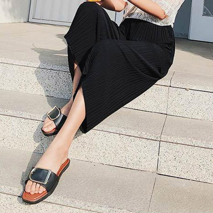 Women Chiffon Loose Pants High Waist Ruffled Hem Thin Pleated Trumpet Casual Trousers NYZ Shop 6