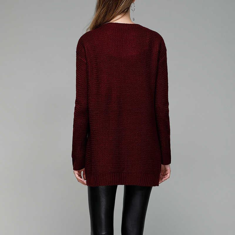 Swetry damskie z dekoltem w szpic