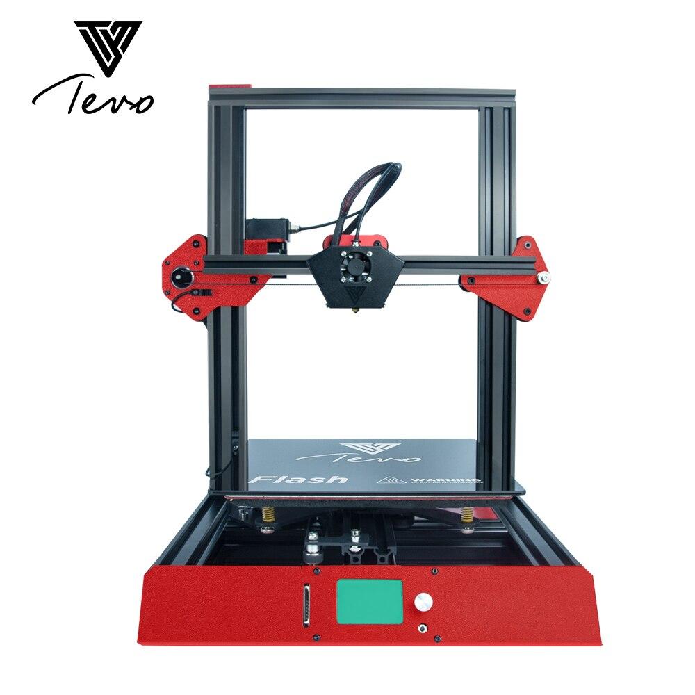 2018 TEVO Flash 3D Stampante Full metal Prebuilt 98% 3D Stampante kit FAI DA TE 3D Macchina da Stampa & Titan Estrusore & il Calore del silicone Letto