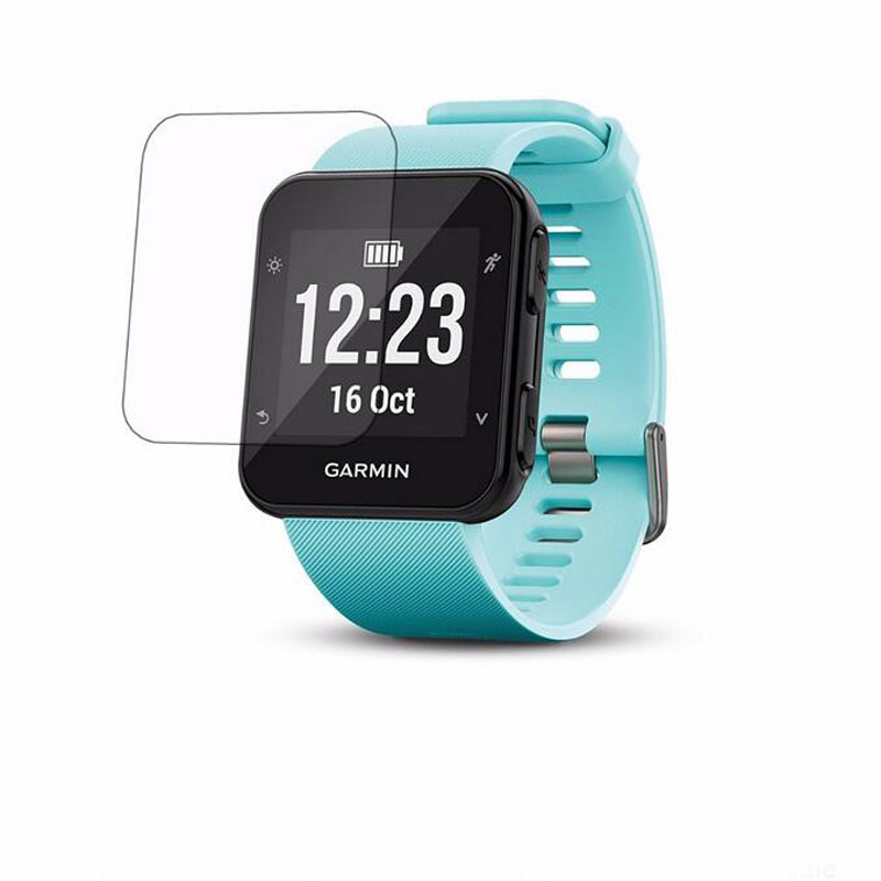 2xUltra HD Clear Tempered Glass Protective Film Guard For Garmin Forerunner 35 Fr35 Smart Watch Toughened Screen Protector Cover enkay clear hd screen protector protective film guard for sony xperia z3 l55t transparent