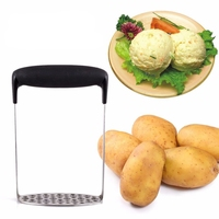 Convenient Stainless Steel Fruit Useful Hand Home Held Salad Vegetable Pumpkin Puree Masher Potato Ricer Juicer