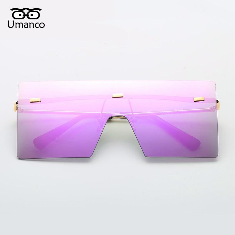 b93d4fb692 Umanco gafas de sol cuadradas grandes sin montura para hombre y mujer gafas  de sol de Metal de moda para mujer gafas de gran tamaño para hombre en Gafas  de ...