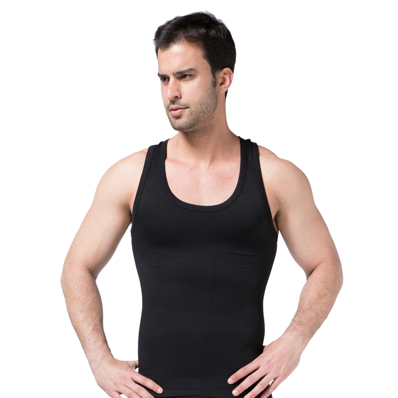 Slim Solid Men Shapers Plus Size Trainer Corset Shapewears Sexy Compression Tank Tops Belly Waist Burning Undershirts Male 40%Y