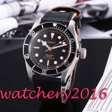 Casual Corgeut 41mm black dial SS case sapphire glass most worthy Luxury Luminous miyota Automatic movement Men's Watch