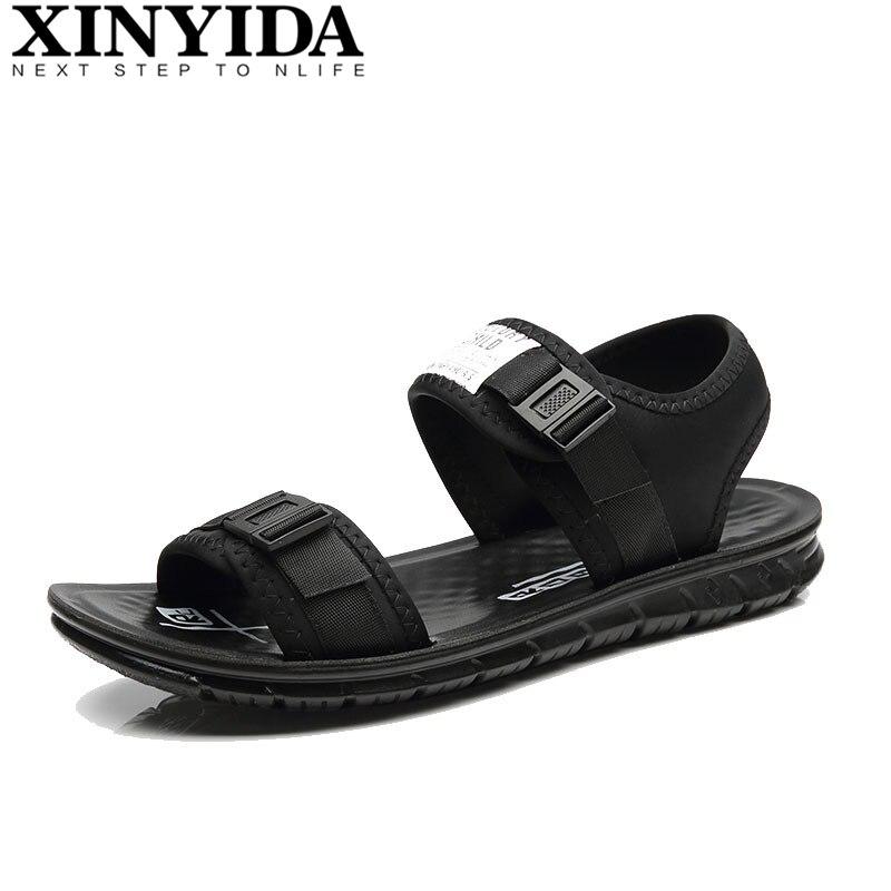 2018 Hot Sale Fashion Summer Comfortable Men Sandals Mens Mesh Breathable Cool Beach Shoes Casual Slippers Men Shoes Size 38-44