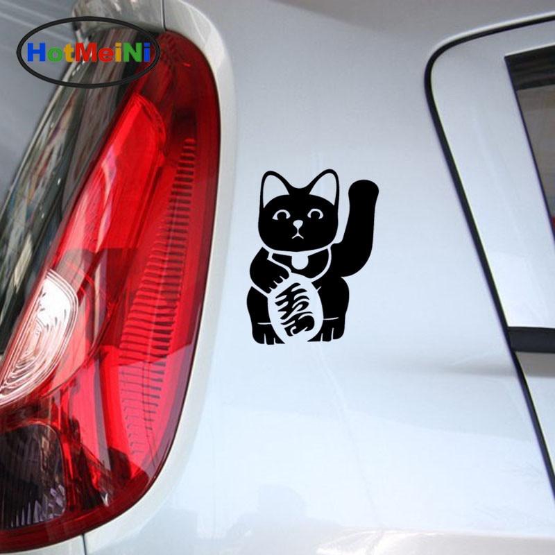 JAPANESE BECKONING CAT Vinyl Decal Sticker Japan Lucky Feline Window Car Sign