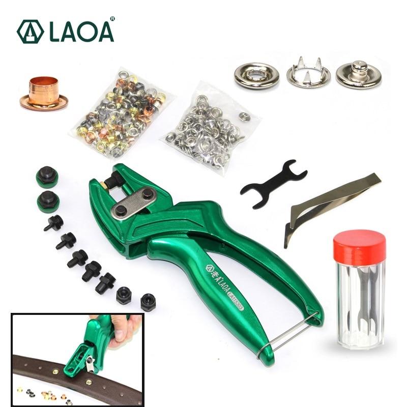 LAOA Multifunction Hole Puncher Leather Punch Pliers Aluminium alloy Button Eyelet Puncher Belt Plier