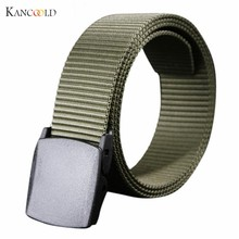 Wild Men Canvas Belt Hypoallergenic Metal free Plastic Automatic Buckle Belt for Male Waistband 2017 belts drop shipping Se19E(China)