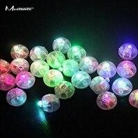 Meetcute 100 Stks/partij 1.5 cm Mini Flash Ronde Bal Led Ballon Verlichting Kralen DIY Hangers Voor Handwerken Decoratie Colurful