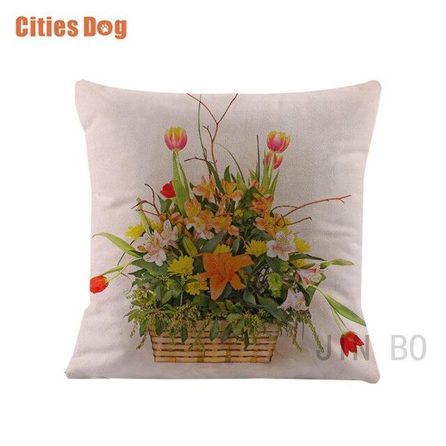 Us 595 30 Off3d Kwiat Tulipany Poduszek Poduszki Poduszki Dekoracyjne Białe Aksamitne Tkaniny ślubne Dakimakura Poduszka Dla Kobiet W Ciąży