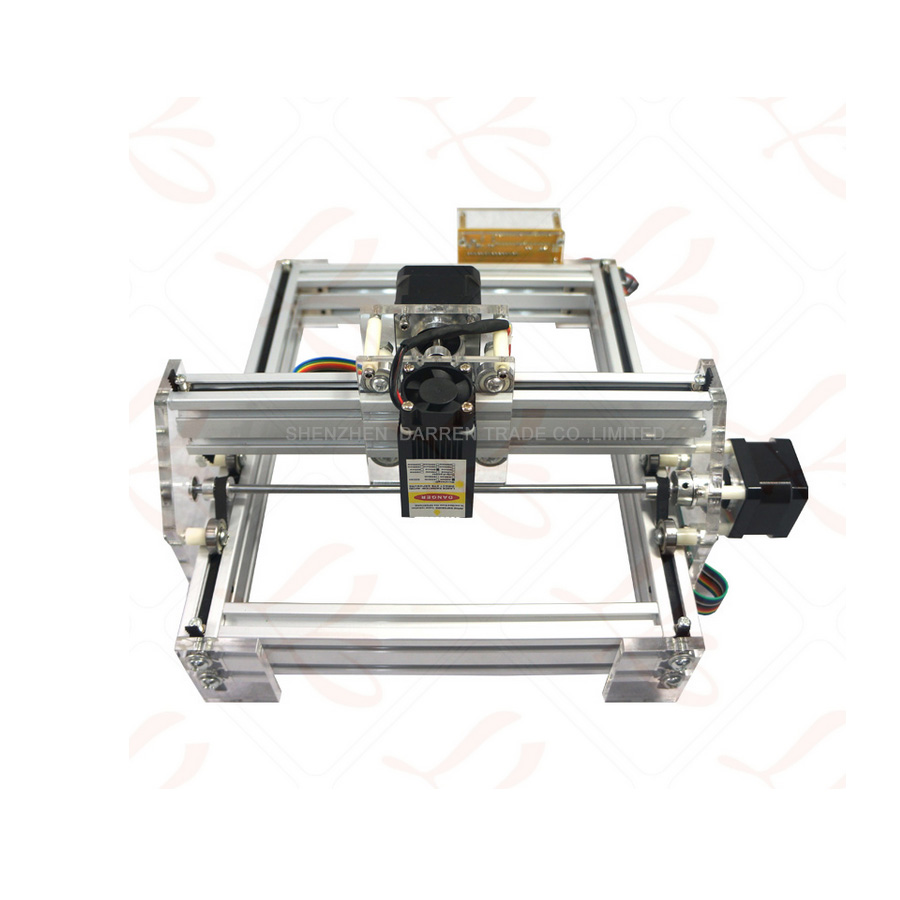 1 шт. 1,5 Вт DIY мини лазерная гравировальная машина 1500 МВт Настольный DIY Лазерный гравер гравировальный станок изображение CNC принтер - 2
