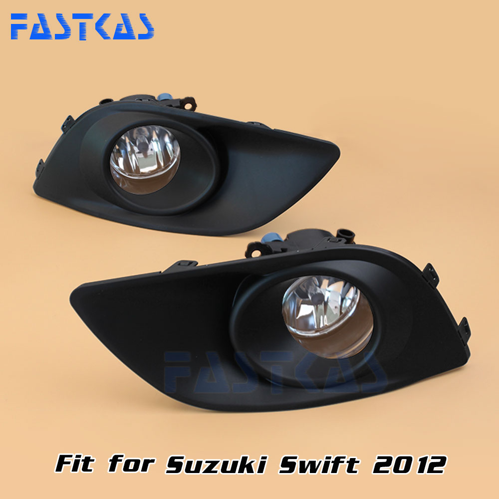 Car Fog Light for Suzuki Swift 2012 Left Right Bumper Fog Lamp with Switch Harness Cover