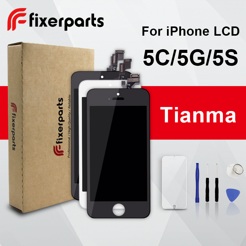 1pcs TianMa LCD For Iphone 5 5c 5s Display Touch Screen Digitizer Replacement Full Assembly For IPhone 5 Lcd With Tools Kit