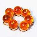 7 unids/lote Dragon Ball Z 1 2 3 4 5 6 7 Estrellas Bolas De Cristal PVC Figura de Juguete Con Llavero 2.5 cm