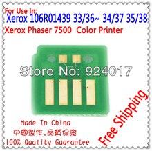 Pour Imprimante Xerox Phaser 7500 7500N 7500DN 7500DT 7500DX De Toner Puce, Pour Xerox 106R01439 106R01436 106R01437 106R01438 Toner Puce