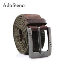 Adofeeno, качественные военные ремни для мужчин, тактический широкий ремень с пряжкой, повседневный ремень, мужской ремень из натуральной кожи, холст, Cintos Masculinos