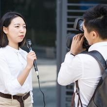 BOYA BY-HM100 Omni-Direcional Dinâmico Microfone de Mão Sem Fio Microfone XLR Longo Lidar Com Corpo De Alumínio para ENG/Entrevistas