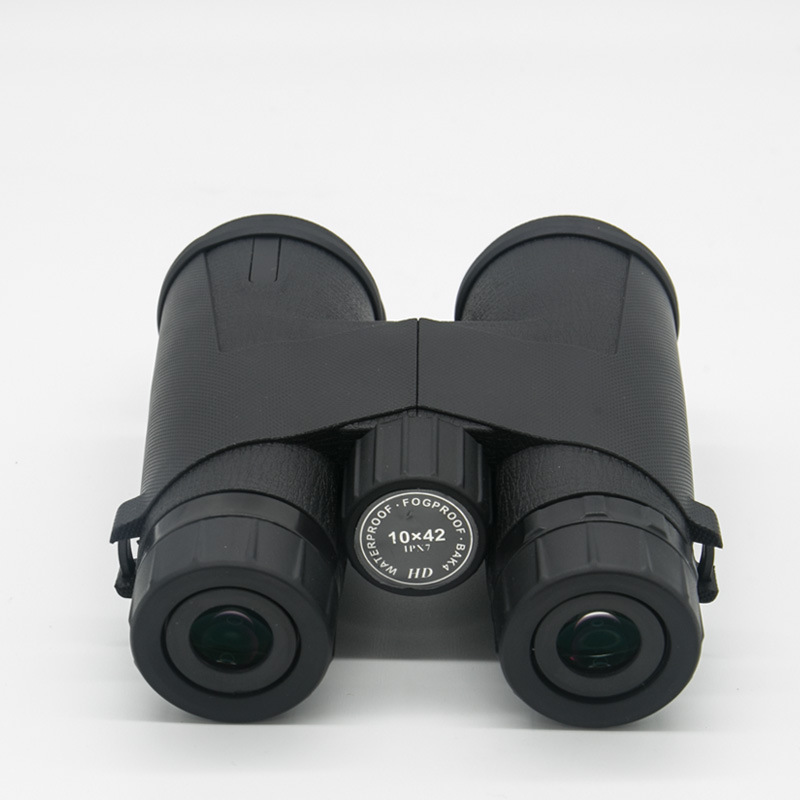 10x42 Multiple Multi layer Anti reflection Green Binoculars Film Straight Wide Angle Waterproof High definition Rubber Leather in Monocular Binoculars from Sports Entertainment