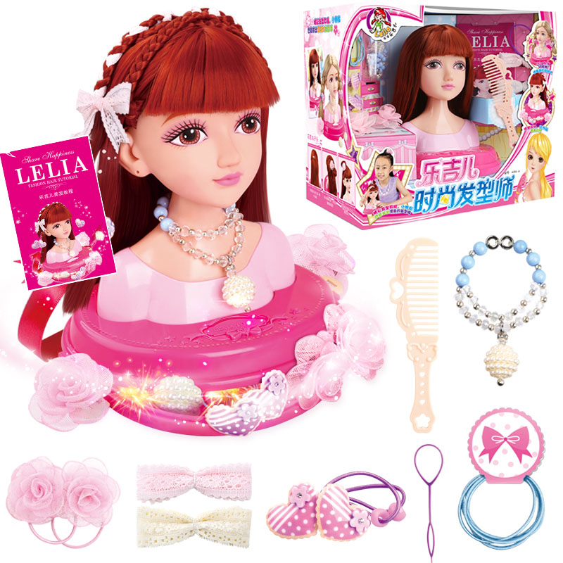 Girls Pretend Toy Set Hairdressing DIY Play Beauty And
