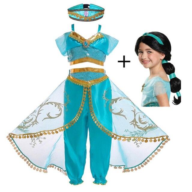 Mädchen Aladdin und Jasmin Kostüm Kleid Up Kinder Arabischen Kostüm Kinder Halloween Cosplay Phantasie Dance Arabischen Prinzessin Kleid